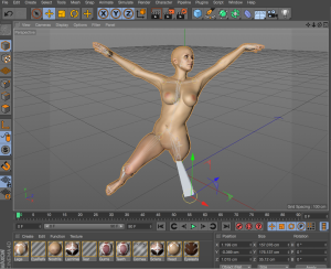 My first pose ever in C4D